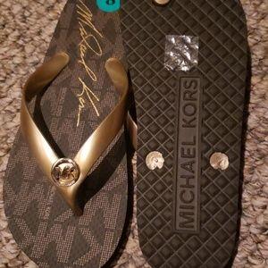 Michael Kors Shoes - Brown Flip flops